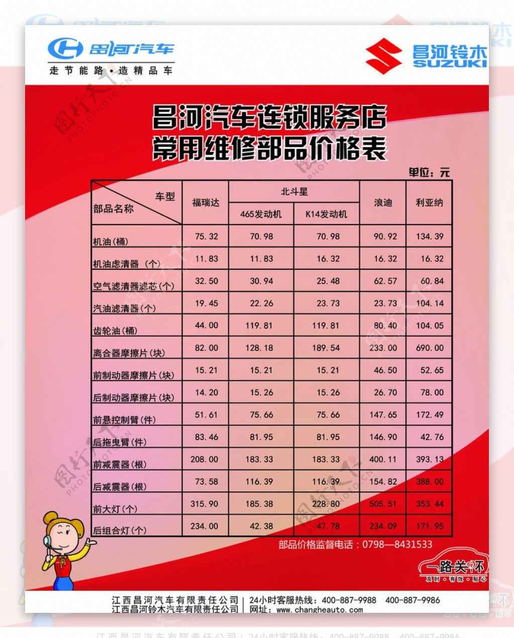 昌河汽车连锁服务店图片
