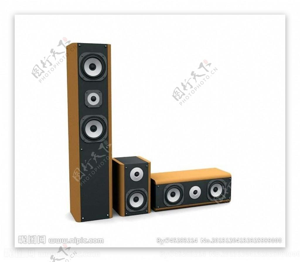 音响音响模型图片