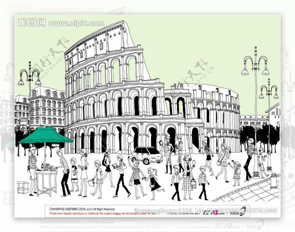 建筑线稿图片