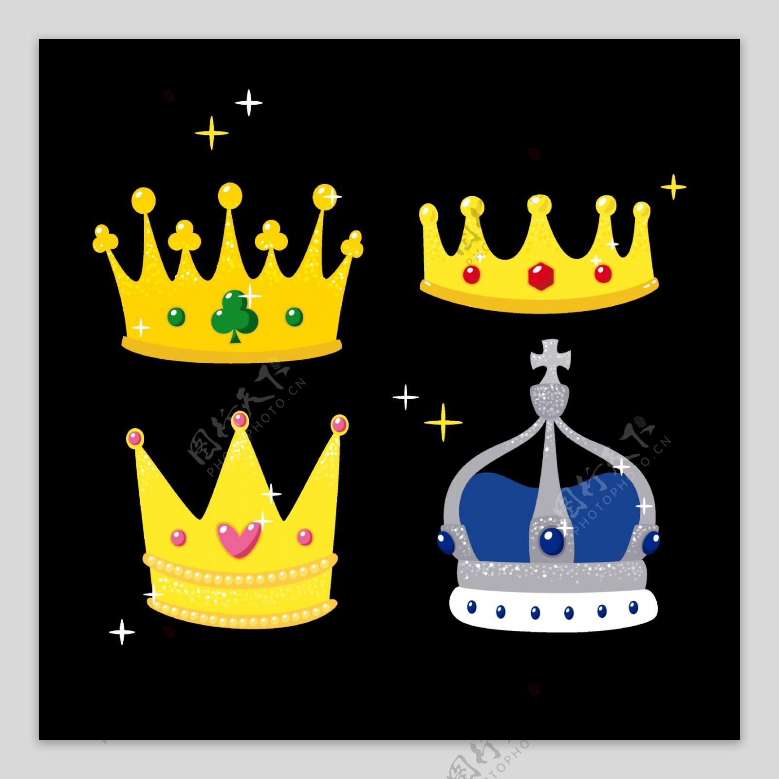 宝石皇冠图标免抠png透明图层素材