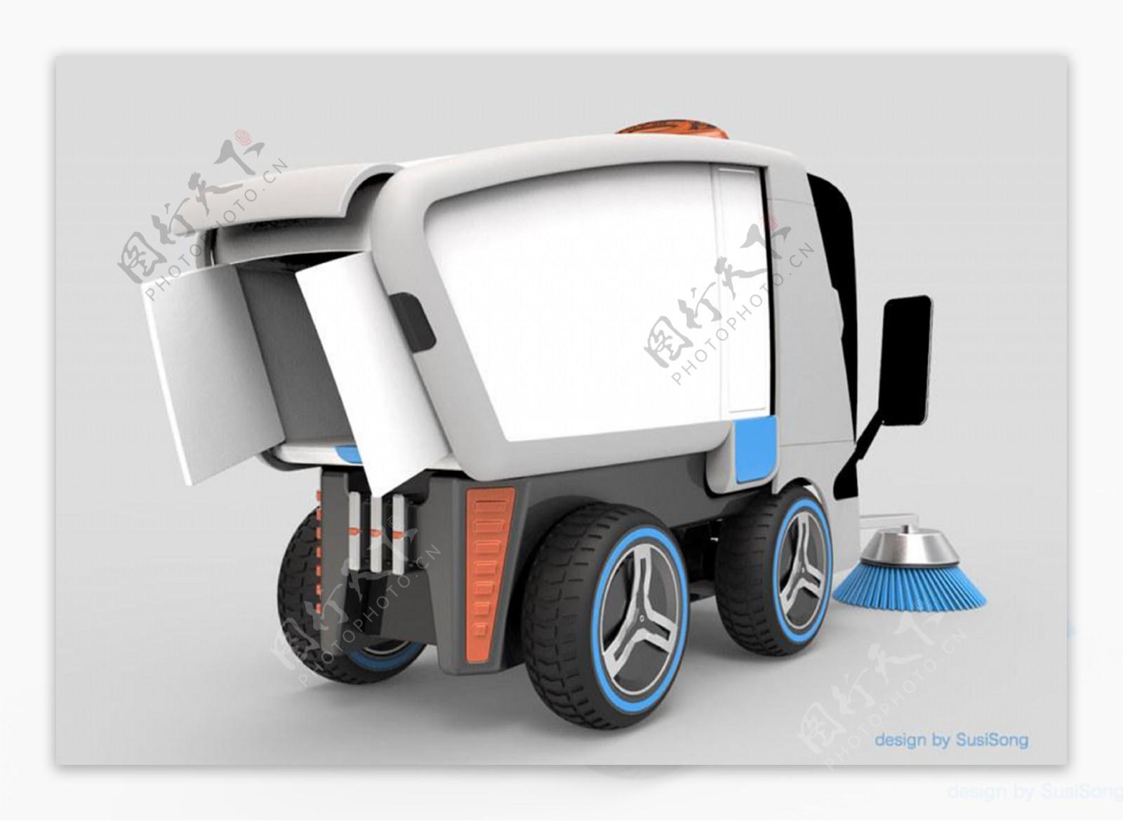 现代化概念清洁车